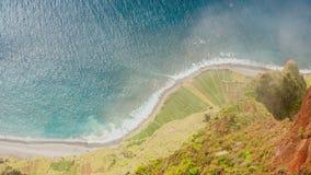 Atlantic Ocean coast seen from Cabo Girao, Madeira stock video