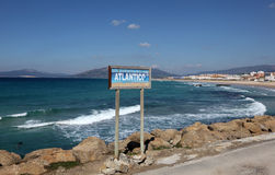 Atlantic coast in Tarifa, Spain Stock Photography