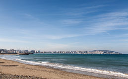 Atlantic Ocean coastal landscape,Tanger city, Morocco Royalty Free Stock Photo