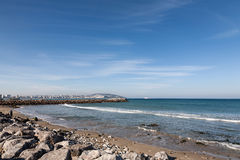 Atlantic Ocean coastal landscape,Tanger city, Morocco Stock Photography
