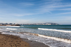 Atlantic Ocean coastal landscape,Tanger city, Morocco Stock Image