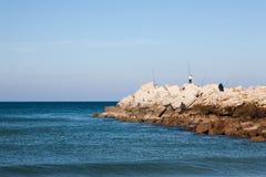 Atlantic Ocean coastal landscape,Tanger city, Morocco Royalty Free Stock Photo