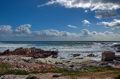 Atlantic ocean coastline by Cape of good hope Stock Photography