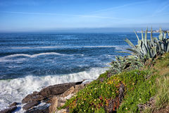 Atlantic Ocean Coastline in Estoril Royalty Free Stock Photos