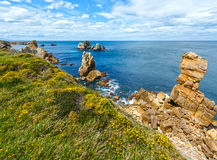 Atlantic ocean coastline near Portio Beach Stock Images