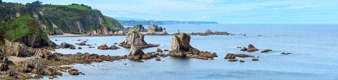 Atlantic Ocean coastline panorama Spain. Royalty Free Stock Photography