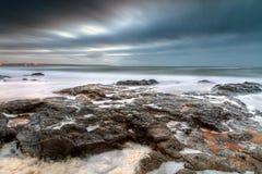 Atlantic ocean at dusk Royalty Free Stock Image