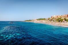 Atlantic Ocean and El Duque beach Royalty Free Stock Photos