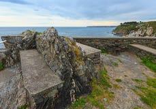 Atlantic ocean evening coastline Asturias, Spain. Royalty Free Stock Image