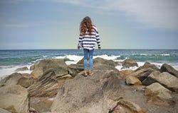 Atlantic Ocean från smörgåsen royaltyfria foton