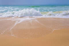 Atlantic ocean, front view of waves on the beach Royalty Free Stock Images