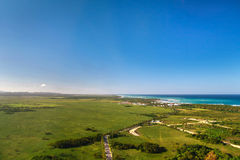 Atlantic Ocean from helicopter view Stock Image