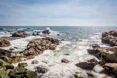 Atlantic Ocean i Porto, Portugal Arkivbild