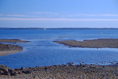 Atlantic ocean inlet at low tide Royalty Free Stock Photo