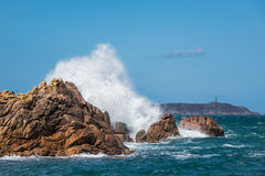 Atlantic Ocean kust i Brittany Royaltyfri Fotografi