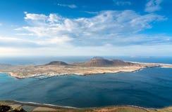 Atlantic Ocean and La Graciosa Island view from Lanzarote Stock Photography