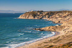 Atlantic Ocean landscape, Gibraltar strait, Morocco Stock Photography