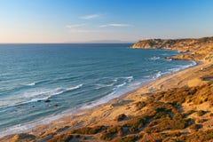 Atlantic Ocean landscape. Morocco, Gibraltar strait Royalty Free Stock Image