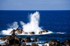 Atlantic ocean and Madeira coast Royalty Free Stock Image