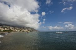 Atlantic ocean in Madeira Islands Royalty Free Stock Images