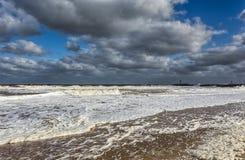 Atlantic Ocean at Manasquan Beach New Jersey Stock Photography