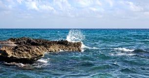 Atlantic Ocean from a Mexican Resort Stock Photos