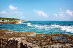 Atlantic Ocean from a Mexican Resort Stock Photography