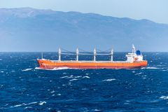 Sagittarius Ocean, a Cargo Bulk Carrier, sailing across the Atlantic Ocean stock image