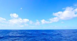 Atlantic Ocean panoramic seascape. Atlantic Ocean beautiful panoramic seascape, natural photo background Stock Image