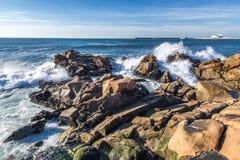 Atlantic Ocean in Porto Stock Photo