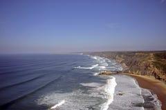 Atlantic ocean in Portugal. Atlantic ocean at the westcoast in Portugal Royalty Free Stock Image