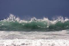 Atlantic Ocean in Portugal. Atlantic Ocean with huge waves in Portugal Stock Photo