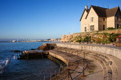 Atlantic Ocean Promenade in Cascais Royalty Free Stock Image