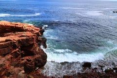 Atlantic Ocean Rock Maine Stock Photo