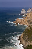 Atlantic ocean and rock Royalty Free Stock Photo