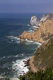 Atlantic ocean and rock Royalty Free Stock Image