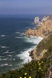 Atlantic ocean and rock Stock Photos