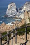 Atlantic ocean and rock Royalty Free Stock Images