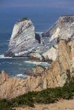 Atlantic ocean and rock Stock Photo