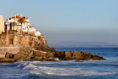 Atlantic Ocean Rocky Coast in Estoril Stock Photography