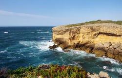 Atlantic ocean rocky coastline scenery Royalty Free Stock Photo