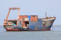 Atlantic Ocean's revenge on Ships Royalty Free Stock Image