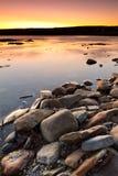 Atlantic ocean scenery at sunset Stock Photo