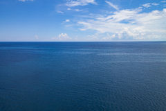 Atlantic Ocean seascape. A seascape from a cruise ship close to Nassau, The Bahamas Stock Photo