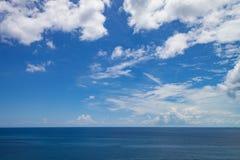 Atlantic Ocean seascape. A seascape from a cruise ship close to Nassau, The Bahamas Royalty Free Stock Photography