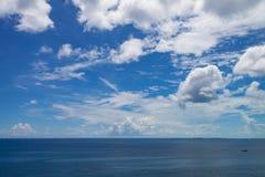 Atlantic Ocean seascape. A seascape from a cruise ship close to Nassau, The Bahamas Royalty Free Stock Photo