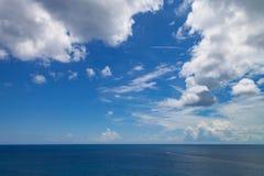 Atlantic Ocean seascape. A seascape from a cruise ship close to Nassau, The Bahamas Stock Images