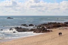 Atlantic Ocean seaside in Porto, Portugal Stock Image