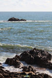 Atlantic Ocean seaside in Porto, Portugal Stock Images