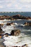 Atlantic Ocean seaside in Porto, Portugal Royalty Free Stock Photo